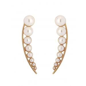 Faux Pearl Pea Statement Stud Earrings