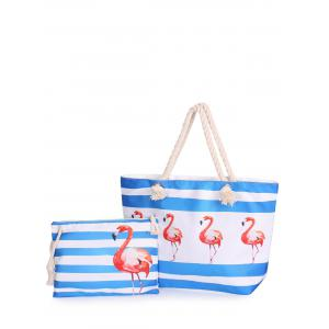 Striped 2 Pieces Shoulder Bag Set