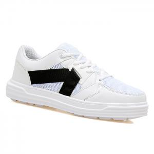 Color Block Mesh Sneakers