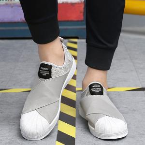 Elastic Band Stretch Fabric Casual Shoes -
