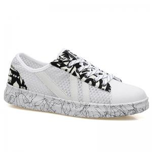 Breathable Graffitti Mesh Sneakers