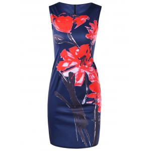 Floral Print Mini Bodycon Dress
