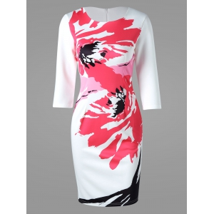 Printed Bodycon Mini Dress