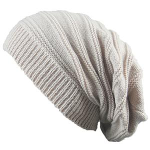 Stacking Striped Ribbing Knitted Beanie Hat