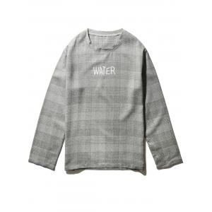 Long Sleeve Graphic Print Tartan T-shirt