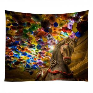 Horse Art Glass Print Tapestry Wall Hanging Decoration -