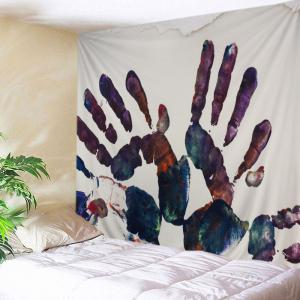 Paint Handprint Pattern Tapestry Wall Hanging Art Decoration