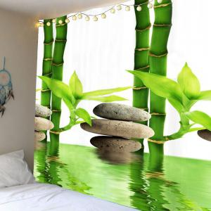 Bamboo Forest Pool Printed Wall Art Tapestry - Green - W71 Inch * L71 Inch