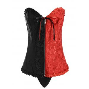 Two Tone Lace Up Plus Size Corset
