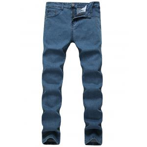 Zip Fly Plain Jeans in Slim Fit