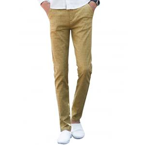 Zipper Fly Checked Chino Pants