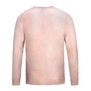 Crew Neck Muscle 3D Printed Funny Tee - YELLOWISH PINK XL