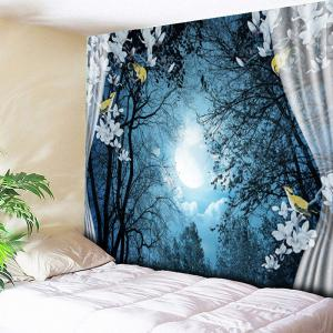 Forest Night Print Wall Hanging Tapestry