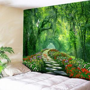Wall Hanging Forest Path Printed Tapestry - Green - W79 Inch * L59 Inch