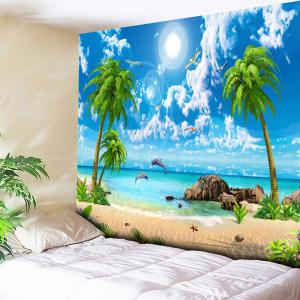Island Scenery Coconut Tree Wall Tapestry