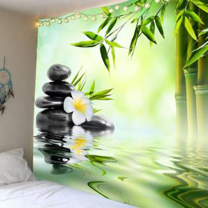 Home Decor Bamboo Pond Hanging Wall Tapestry