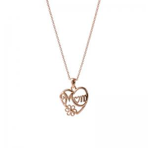 Alloy Heart Flower Mom Collarbone Necklace