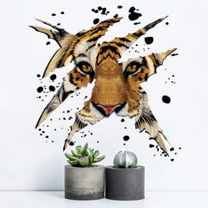 Home Decorative 3D Tiger Head Shape Wall Sticker