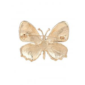 Broche papillon en cristal brillant -