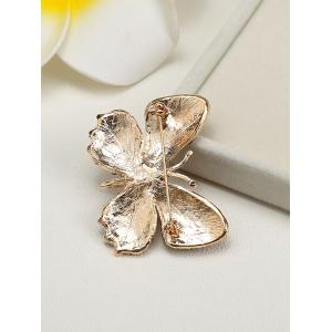 Sparkly Rhinestone Butterfly Brooch - CHAMPAGNE