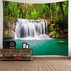 Forest Waterfall Wall Art Hanging Tapestry -