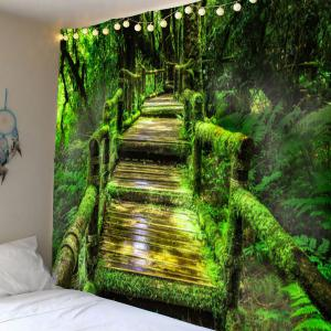 Forest Mosses Wood Pathway Hanging Wall Tapestry
