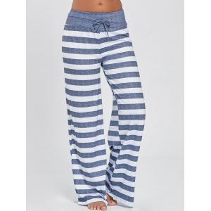 Wide Leg Striped Pants - Stripe - 2xl