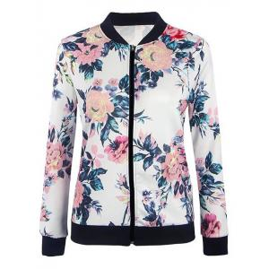 Zip Up Floral Jacket