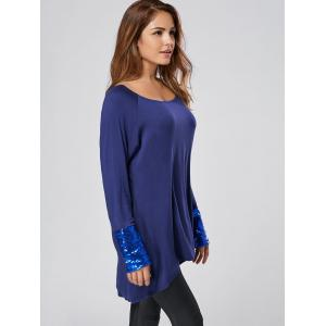 Long Sleeve Sequin Tunic Tee -
