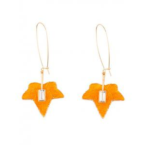 Maple Leaf Statement Fish Hook Earrings