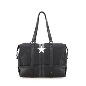 Star Print Rivets Shoulder Bag