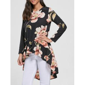 Floral Chiffon High Low Top
