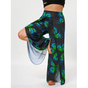 Plus Size High Waist Butterfly Palazzo Pants