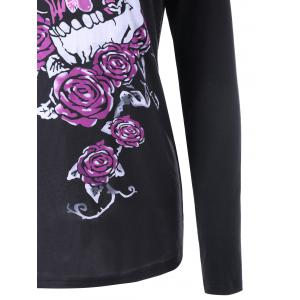 Skull and Butterfly Long Sleeve Top - BLACK M