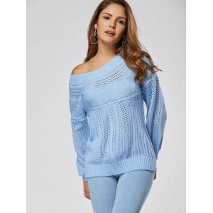 Casual Hollow Out Cable Knit Sweater -