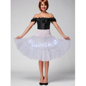 Flounce Light Up Bubble Cosplay Jupe - Gris Clair XL