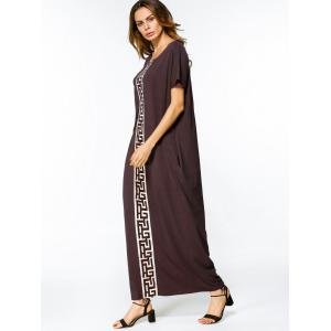 Patches Trim Loose Maxi Dress -