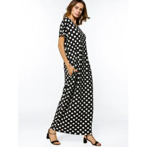 Polka Dot Casual Loose Maxi Dress -