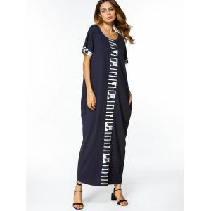 Graphic Loose Straight Maxi Dress -
