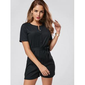 Button Down Knitted Romper -