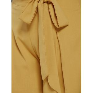 Drawstring High Waisted Wide Leg Pants -