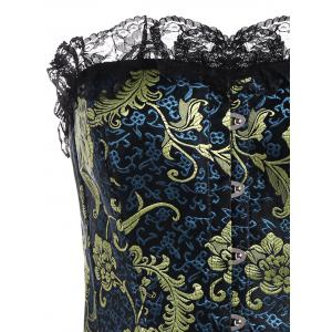 Jacquard Lace Panel Plus Size Corset -