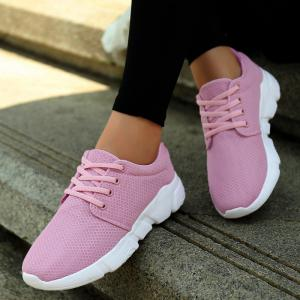 Eyelets Breathable Mesh Athletic Shoes -