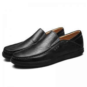 Faux Leather Slip On Casual Shoes -