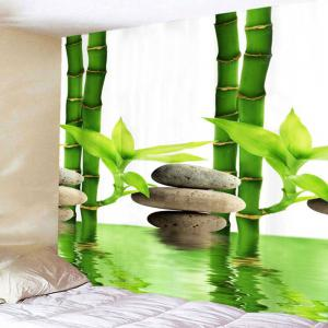 Bamboo Forest Pool Tapis d'impression en mur d'art -