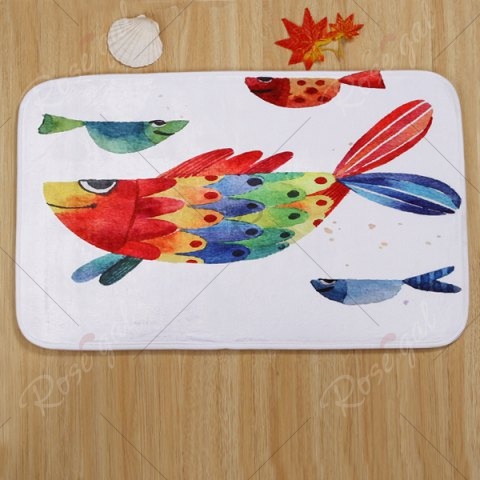 New Watercolour Fish Pattern 3 Pcs Bath Mat Toilet Mat - COLORMIX  Mobile