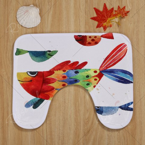Shop Watercolour Fish Pattern 3 Pcs Bath Mat Toilet Mat - COLORMIX  Mobile