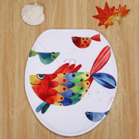 Store Watercolour Fish Pattern 3 Pcs Bath Mat Toilet Mat - COLORMIX  Mobile