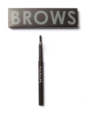 Outfit Two Head Waterproof Auto Brows Pencil With Brush - DARK GRAY  Mobile