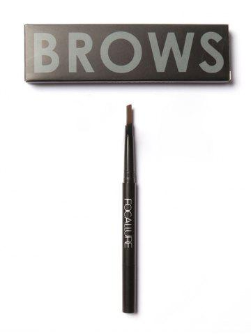 Online Two Head Waterproof Auto Brows Pencil With Brush - BROWN  Mobile